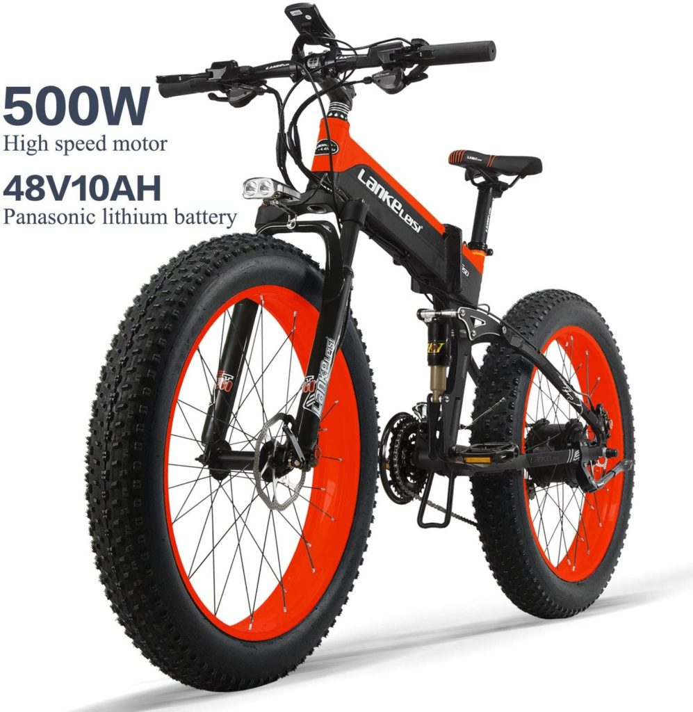 LANKELEISI XT750PLUS Folding Electric Bike